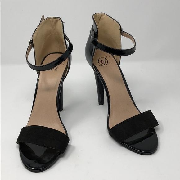 8659024cb Delicious high heels black strap sandals